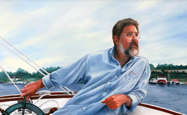 Linda Champanier Oil Portrait of sailor