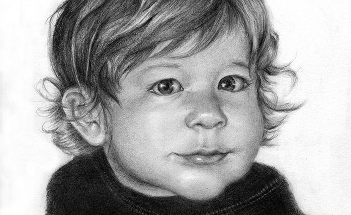 Linda Champanier pencil drawing of boy