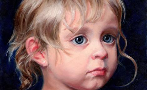 Linda Champanier Oil Portrait of young girl