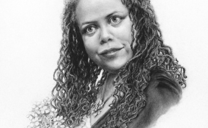 Linda Champanier pencil drawing of woman